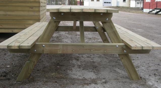 Trädgårdsbord Med Fasta Bänkar Sos Bygga& Renovera Hemmet Ifokus