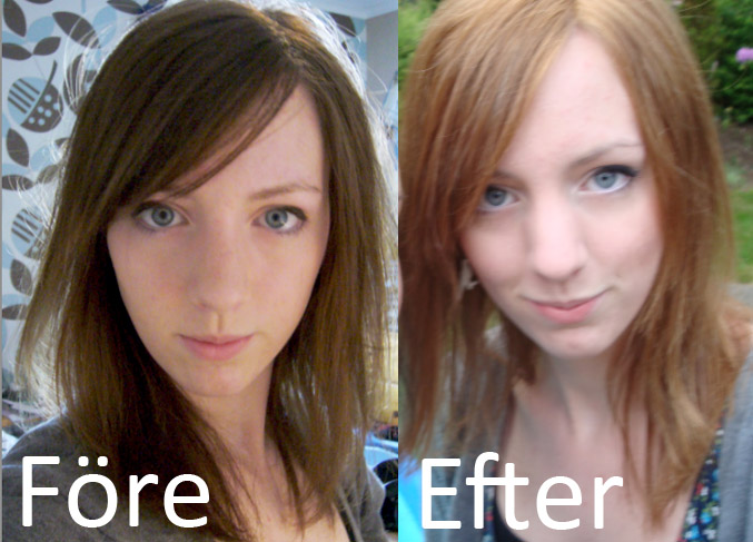 silverschampo före efter brunt hår