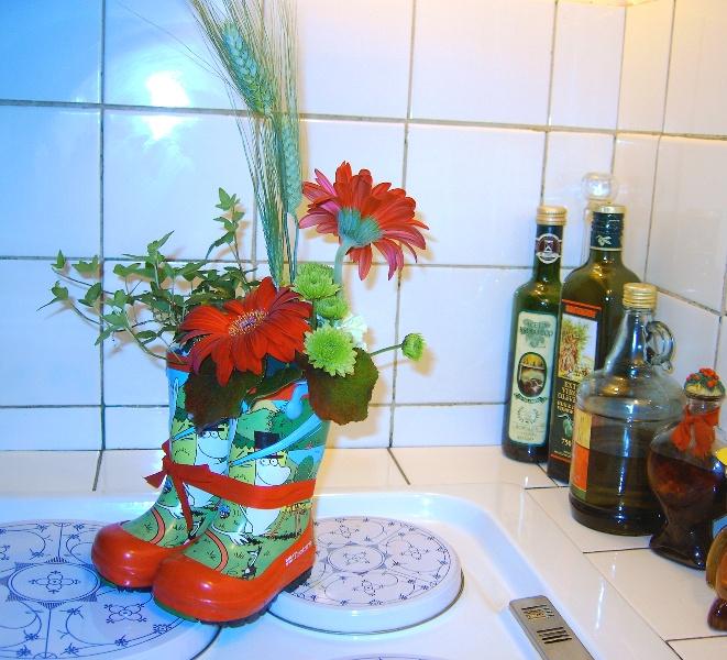 Annorlunda plantering Krukväxter, utomhus och inomhus