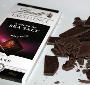 mörk choklad havssalt